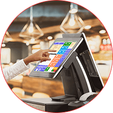 The solution is full of the latest technologies and mordernest equipments to order food: Order on the touchscreen POS (R-Keeper Touch & Send), order by mobile device (R-Keeper Mobile Waiter), customer self order by R-Keeper Self Order